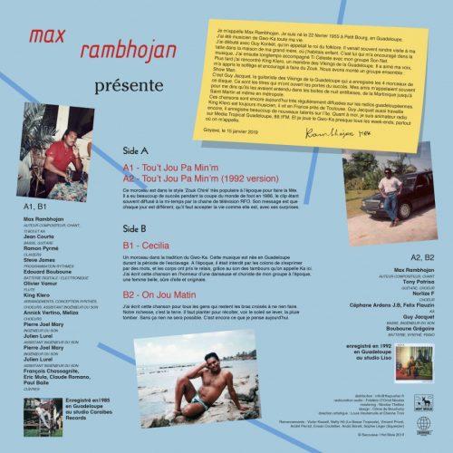 Max Rambhojan – Max Rambhojan Back