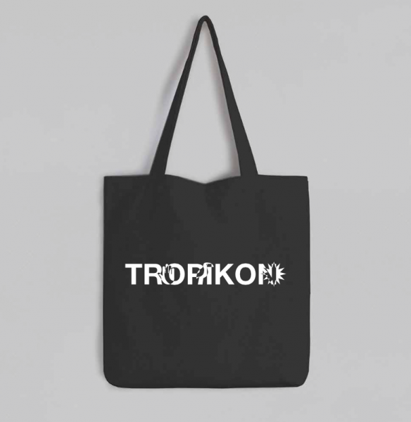 Black Tote Bag Tropikon Logo