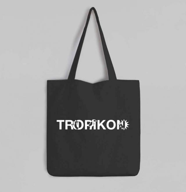 Black Tote Bag Tropikon Logo