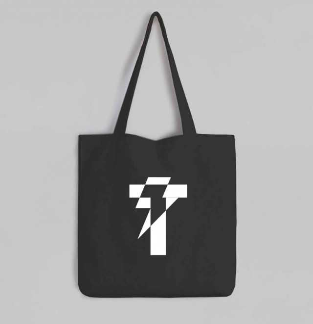 Black Tote Bag Tropikon Icon