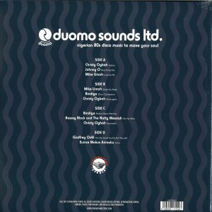 DUOMO SOUNDS LTD. NIGERIAN 80S DISCO MUSIC Back