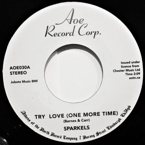 "The Sparkels - Try Love (One More Time) / That Boy Of Mine (7"", Single, RE)"