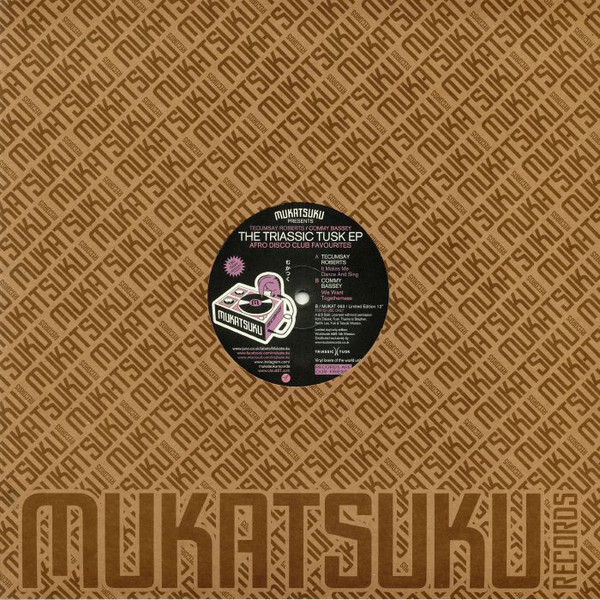 """Tecumsay Roberts / Commy Bassey - The Triassic Tusk Ep (Afro Disco Club Favourites) (12"""", EP, Ltd, 180)"""