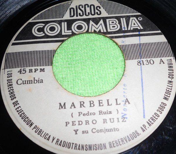 """Pedro Ruiz Y Su Conjunto - Marbella / La Raspa (7"""", Single)"""