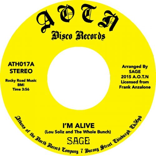 """Sage - I'm Alive / Song For Yvonne (7"""", RE, RM)"""